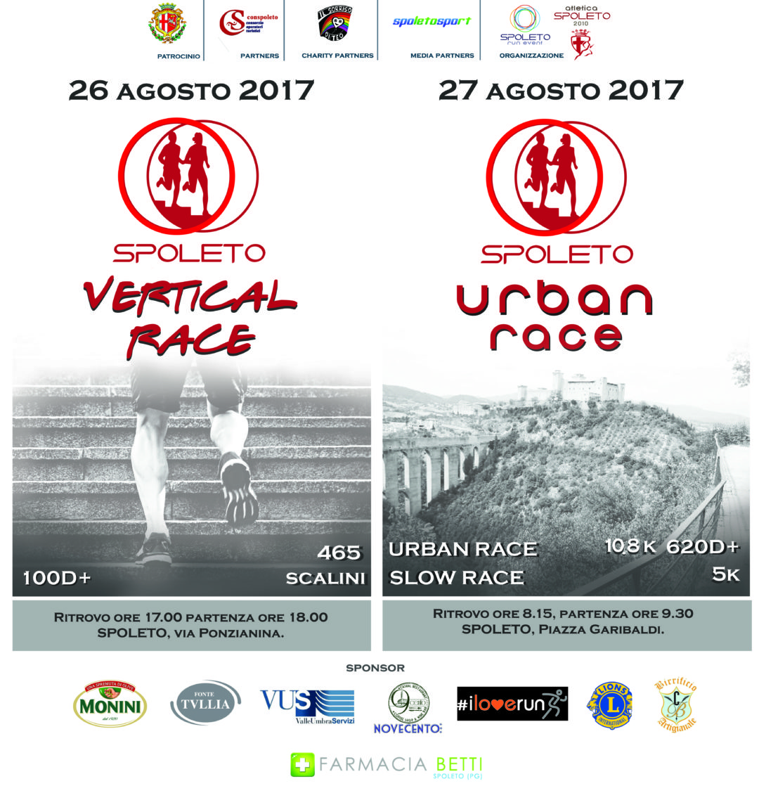 Spoleto vertical race 26.08.2017 + Spoleto urban race 27.08.2017