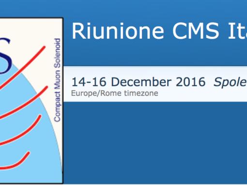 Riunione CMS ITALIA 14 – 16 Dicembre