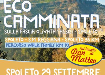 Domenica 29 settembre 2019 Eco camminata sulla fascia olivata Assisi – Spoleto